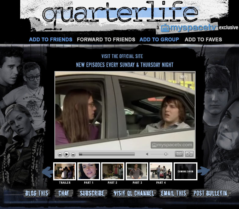 MySpace series Quarterlife picked up by NBC
