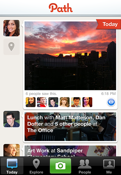 New photo based sharing network Path launches on iPhone