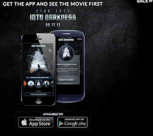 Paramount Pictures Star Trek Into Darkness movie app on Google Play image
