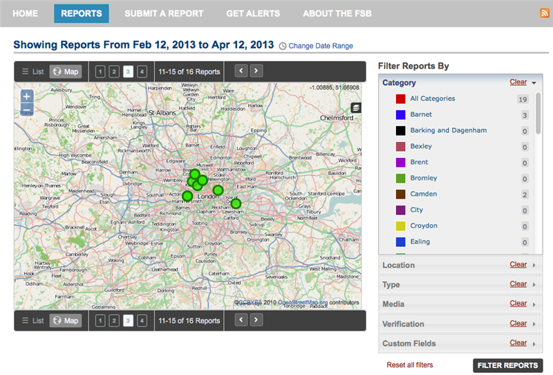 Federation of Small Businesses London Parking Crowdmap