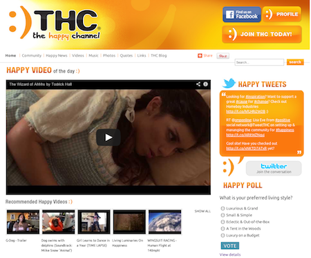TheHappyChannel.com screenshot