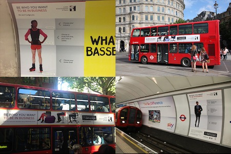 The London School of Business and Finance Be who you want to be in business marketing campaign various media