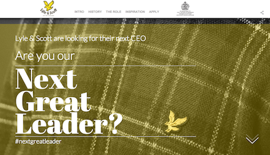 Lyle and Scott NextGreatLeader social media campaign image