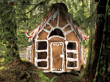 Sykes Cottages ginger bread Fairytale Cottages marketing campaign