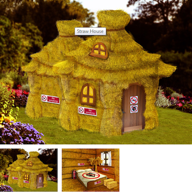 Sykes Cottages straw house Fairytale Cottages image