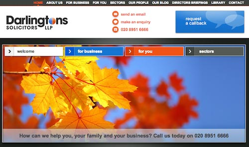 Darlingtons Solicitors website image