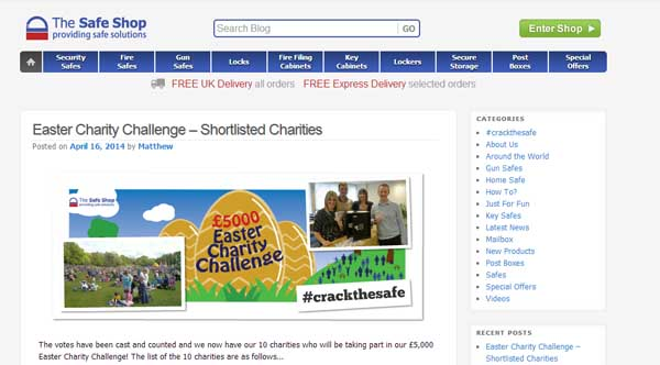 The Safe Shop Easter egg hunt challenge shortlist image