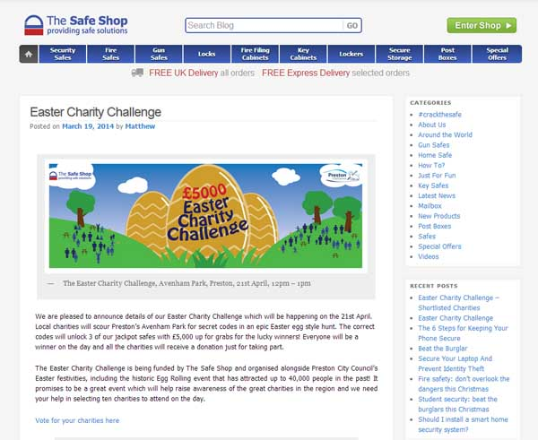 The Safe Shop Easter egg hunt challenge blog post image