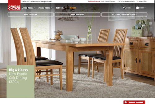 Furniture Choice website