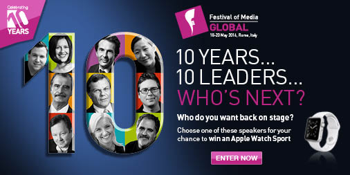 Hyperlink to the Festival of Media Global vote for your guest speaker