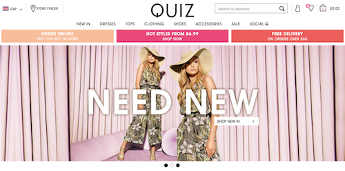 Hyperlink to QUIZ Clothing website image