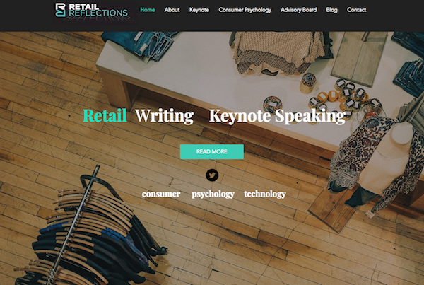 Retail Reflections homepage image