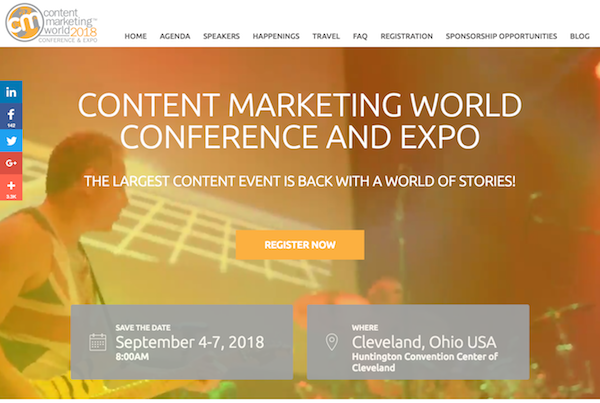 Content Marketing World Conference & Expo homepage image 600x