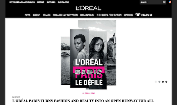 L'Oreal website image 600x