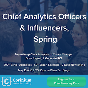Chief Analytics Officers & Influencers, Spring 2019 banner 300x300