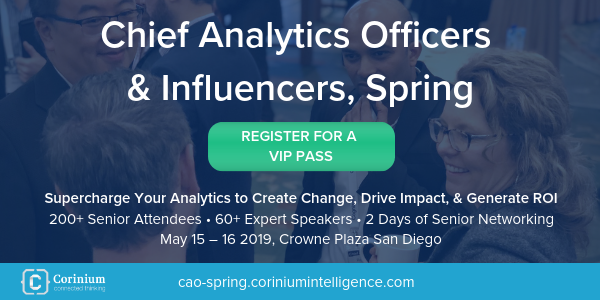 Chief Analytics Officers & Influencers, Spring 2019 banner 600x300