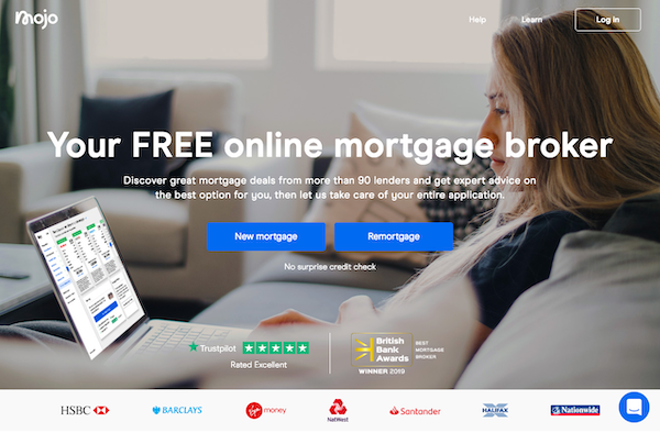Mojo Mortgages homepage website image