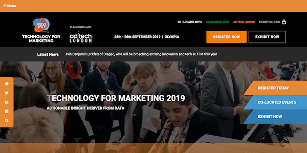 Technology for Marketing 2019 website image 600x299