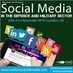 Network with over 16 different Nations at Social Media in Defence and Military Sector conference 2019